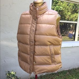 J. Crew Puffer Vest Gold Color Size Large